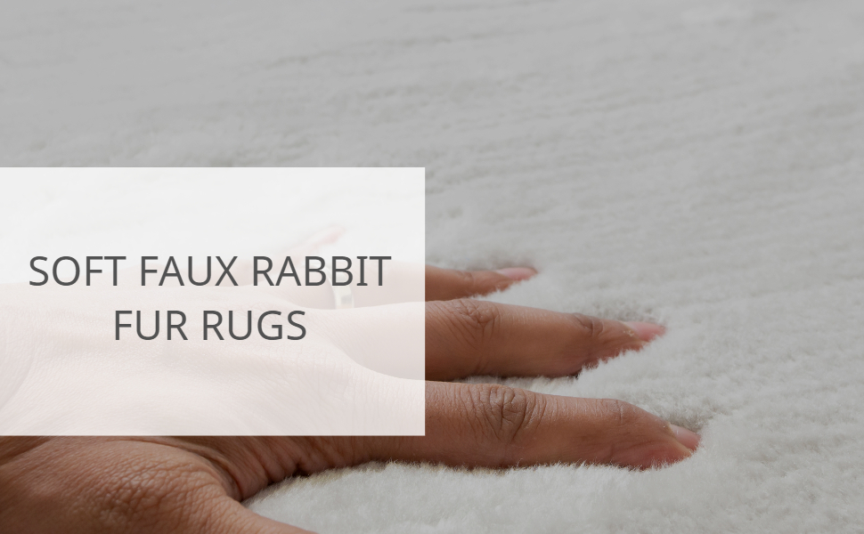 FAUX RABBIT FUR TRELLIS RUG