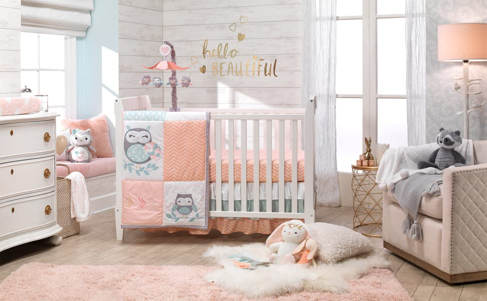 Sweet Owl Dreams Nursery with Mobile