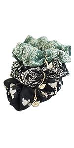 Colors Hair Scrunchies Elastic Hair Bands Flower Scrunchy Hair Ties Accessories for Women or Girls