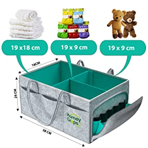 Diaper Caddy Organizer For Changing Table
