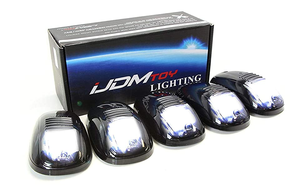 White LED Cab Roof Top Marker Running Lights For Truck SUV 4x4