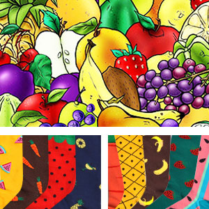 fruit colorful casual funny oil painting crew socks dress socks novelty socks