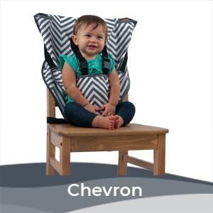 Cozy Baby Easy Seat Portable High Chair - Gray Chevron