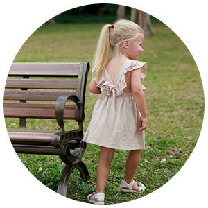 baby girl ruffle cotton linen dress