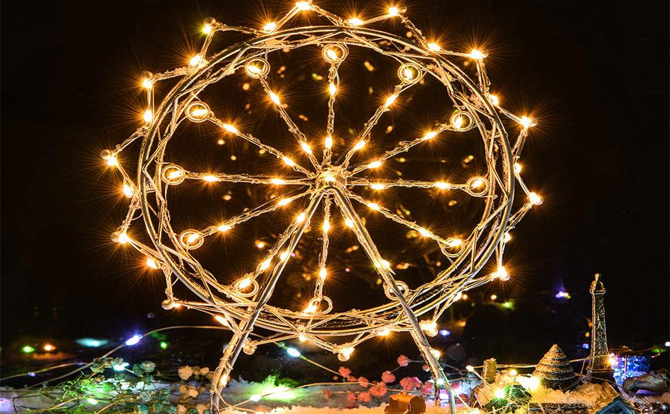 100 LED remote string lights