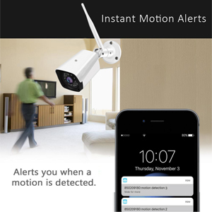 Motion Detection and Email Alerts