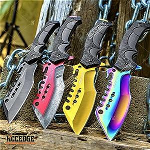 "9.5"" Tactical Fixed Blade Knife Hybrid Edge"