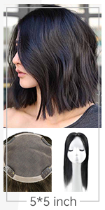 hair topper human hair