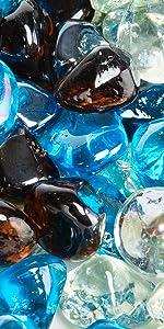 Blended Fire Glass Diamonds