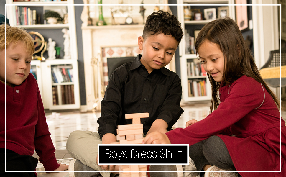Leveret, kids shirts, dress shirt, boys dress shirt, special occasion shirt, black shirt, plaid
