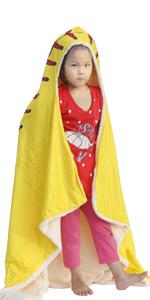 SKOLOO Soft sofeball blankets Wearable Blanket for Kids Adults Warm Hooded Blanket