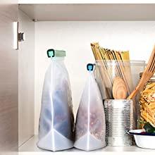 silicone food bags logo zulay kitchen happiness amazon foodgrade reusable