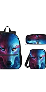 Wolf 3 Set Backpacks