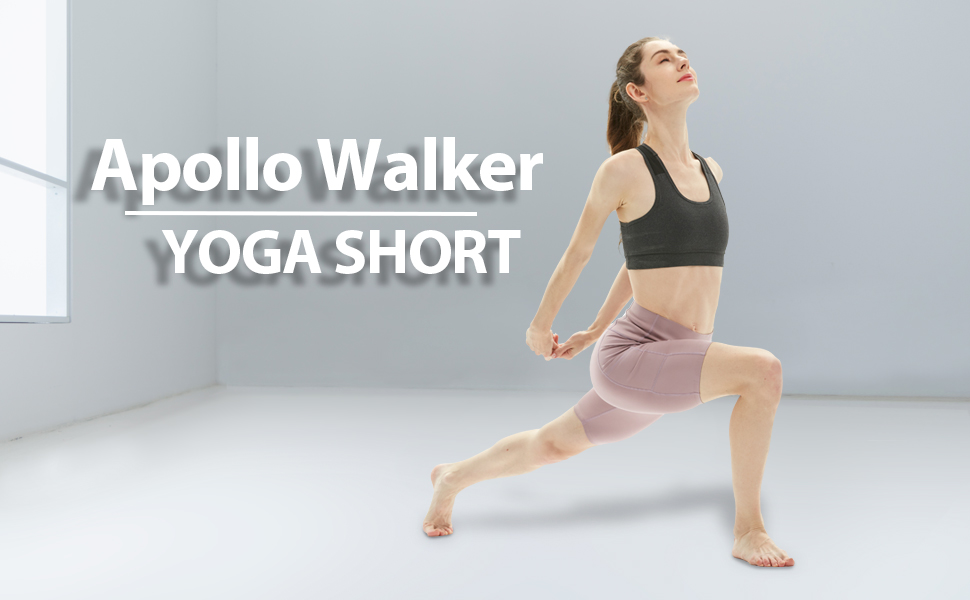 apollo walker women yoga shorts cycling biker running leggings workout athletic shorts