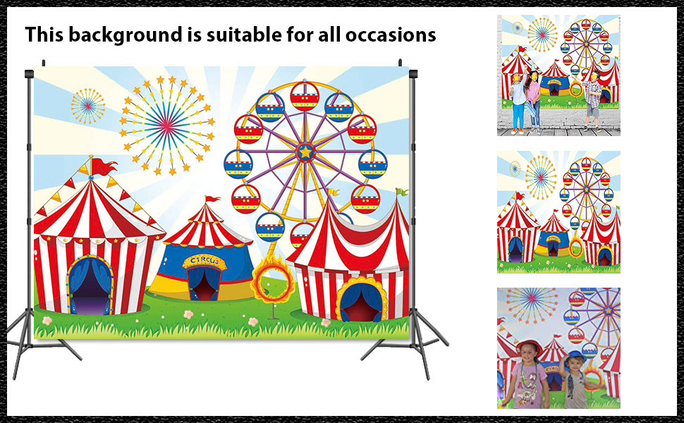 Welcome to children's carnival theme photography background