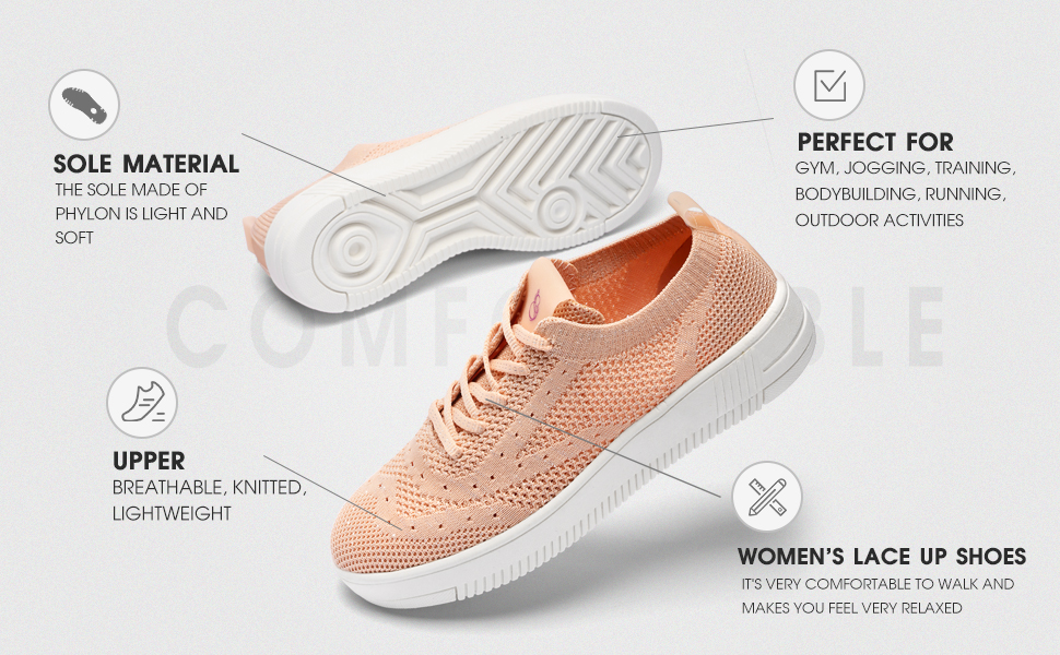 Women's knitted flying shoes are breathable and lightweight