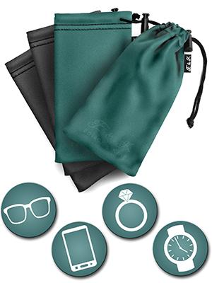 Edison & King, microfiber pouch, glasses case, uses