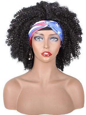 Black headband wig