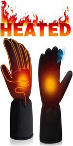 electric rechargeable battery heated gloves warm winter heat gloves cold weather thermal hand warmer