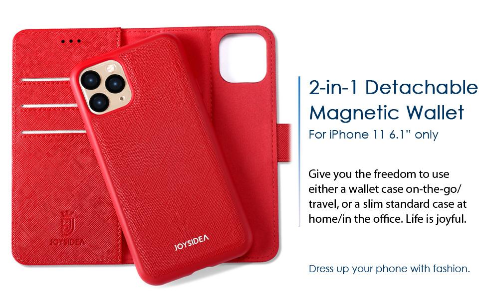 iphone 11 premium pu leather wallet