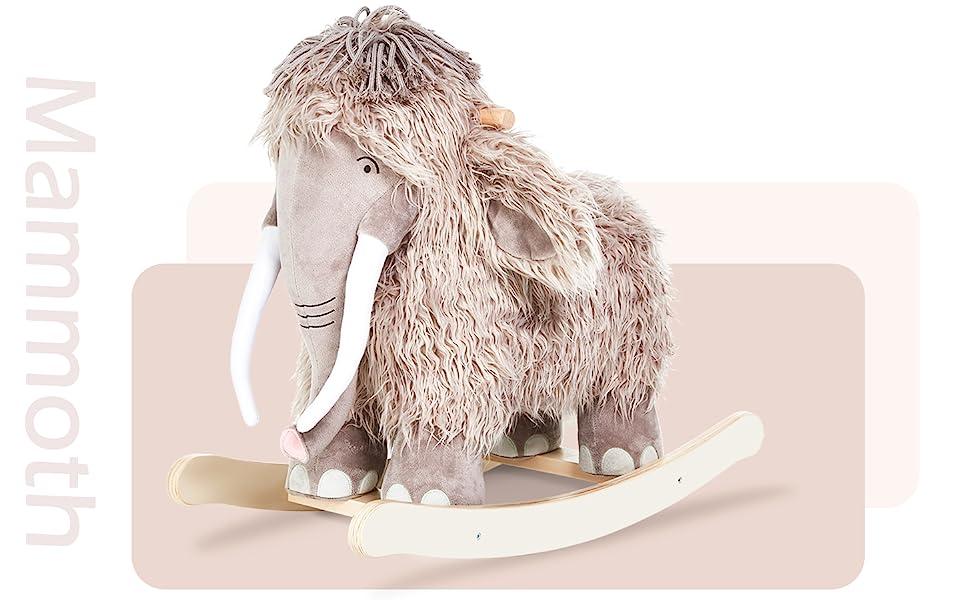 labebe - Plush Rocking Horse, Mammoth Rocker