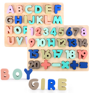 Alphabet puzzle toy set