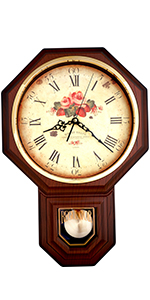 Rose Pendulum Wall Clock