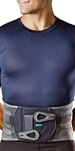 man wearing Aspen Active Elite back brace