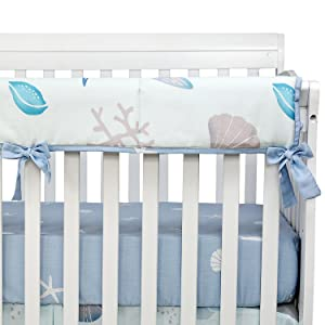 crib rail cover beach theme