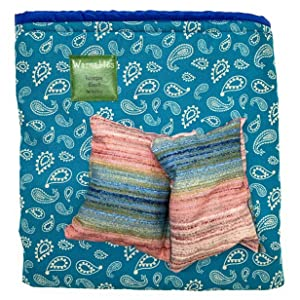 Lunch Box Warmer Set Teal Paisley