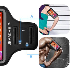 JEMACHE Sports Running Armband for iPhone 11 Pro, X/XS