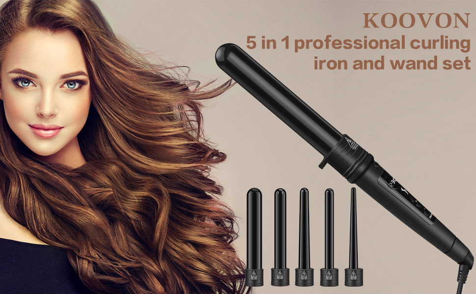 curling wand with interchangeable barrels