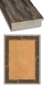 framed wood cork board