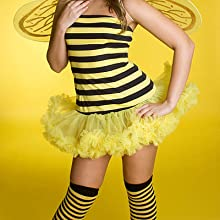 Bumble bee Costume Cosplay Striped Knee High FashionCasual Tube Cotton Socks