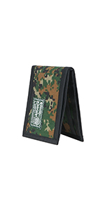 Rough Enough Slim Wallet for boys kids teens camo
