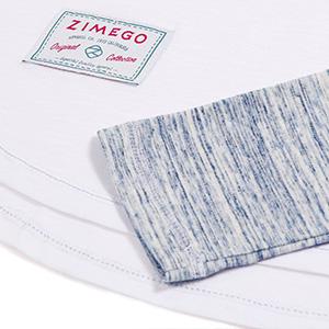 image of rounded bottom hem and zimego logo label