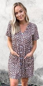 Women leopard dress