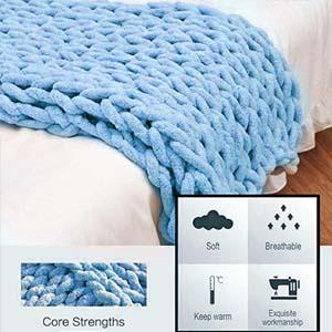 Sky blue blanket