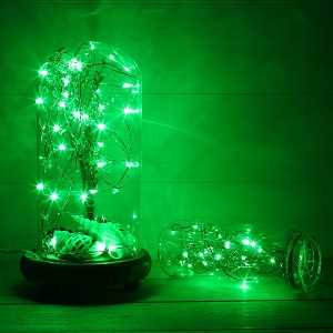 green string lights battery operated