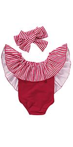 stripe baby girl swimsuit
