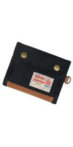 Rough Enough Black Bifold Wallet for Teen Boy Girl Men Kids Credit Card Holder Coin Zipper Purse