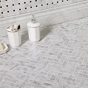 diflart-bianco-carrara-herringbone-floor