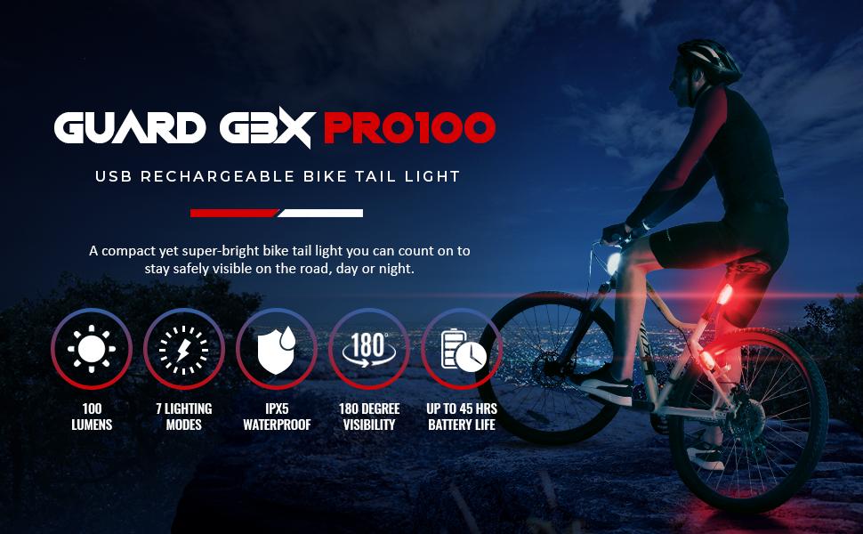 Apace Vision Guard G3X Pro100 bike tail light rear light back light