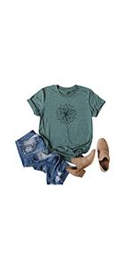 Women's Dandelion Make a Wish T-Shirt