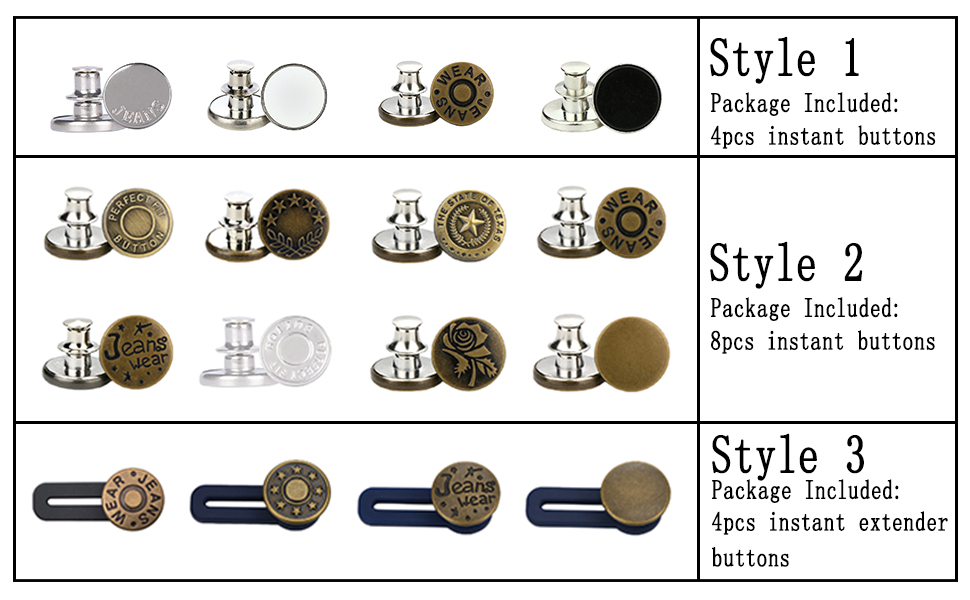 instant button pins for jeans