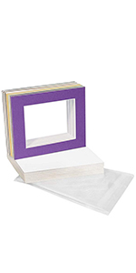 mix color 16 x 20 matting mats with clear bag and backing board kit