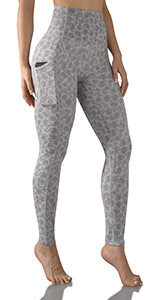 ODODOS Tummy Control Printed Yoga Leggings
