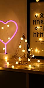 5 Pack Battery Operated 6.6 ft 20 Crystal ball LED Fairy Lights