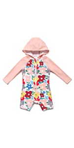 Hoodie Swimsuit for Baby/Toddler Girl
