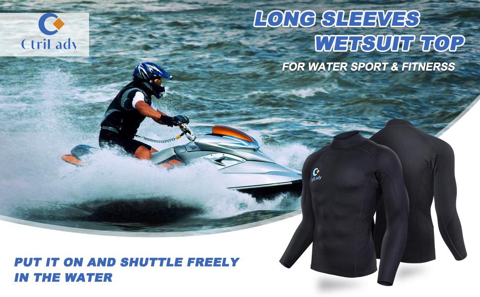 long sleeves wetsuit top